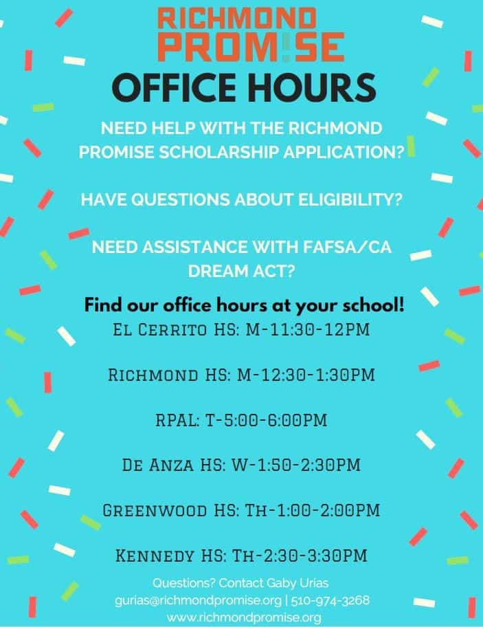 Richmond Promise Office Hours
