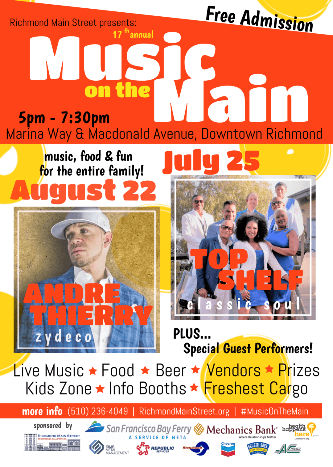 """Richmond Main Street Kicks off a """"Salute to Soul"""" at 17th annual Music on the Main"""