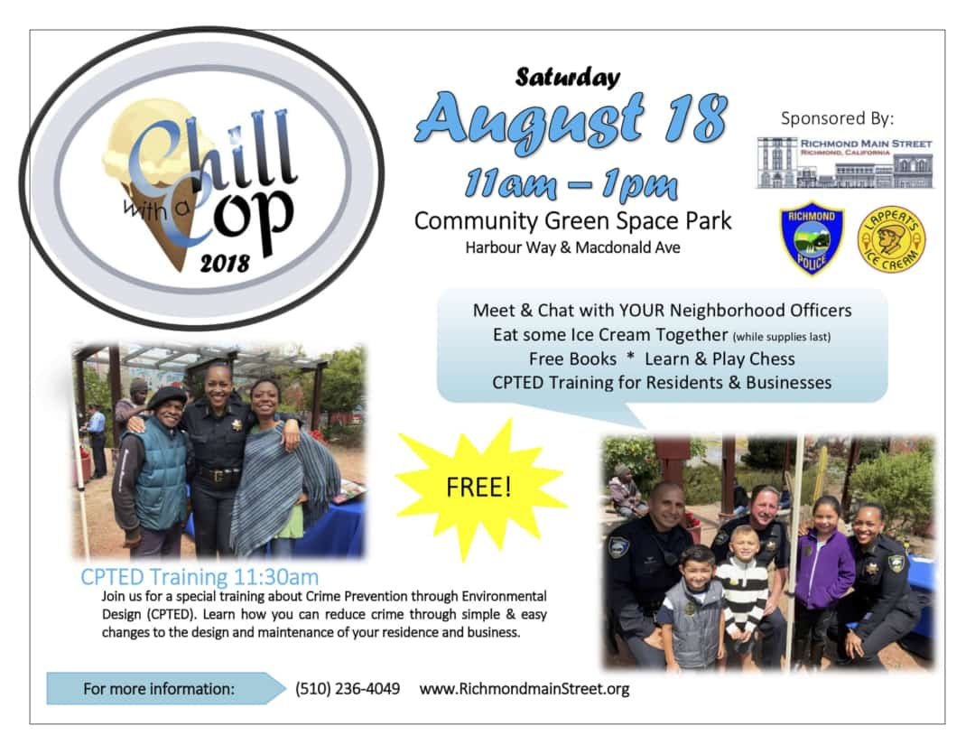 Richmond Community Invited to Chill with a Cop at 5th annual Free Ice Cream Social with Police Officers