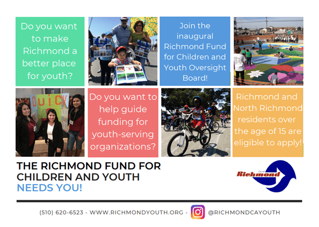 Richmond Fund for Children and Youth Seeks Residents to Apply to Inaugural Oversight Board